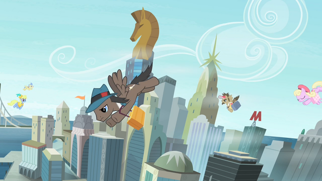 File:Pegasi in Manehattan flying around S4E8.png