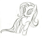 Fluttershy surprised sketch