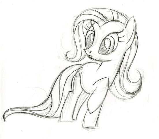 File:Fluttershy surprised sketch.jpg