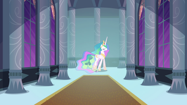 File:Princess Celestia walks through castle corridor S4E01.png