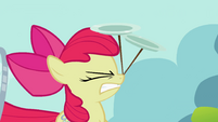 Apple Bloom cringing with plates S2E06