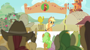 Applejack holding the microphone S4E14.png