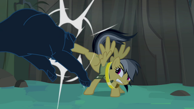 File:Daring Do kicking panther S4E04.png