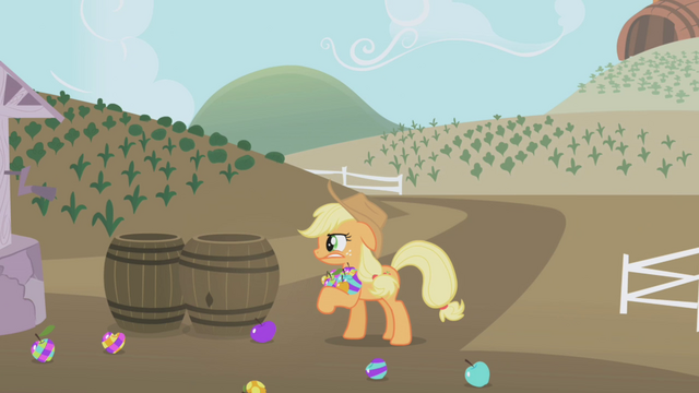 File:Applejack colored apples S1E05.png