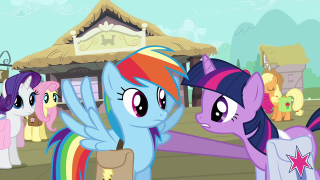 File:Twilight with hoof on Rainbow Dash's shoulder S03E12.png