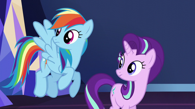 File:Rainbow and Starlight hear Spike enter S6E1.png