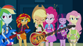 Applejack face-palms at Rarity's outfit EG2.png