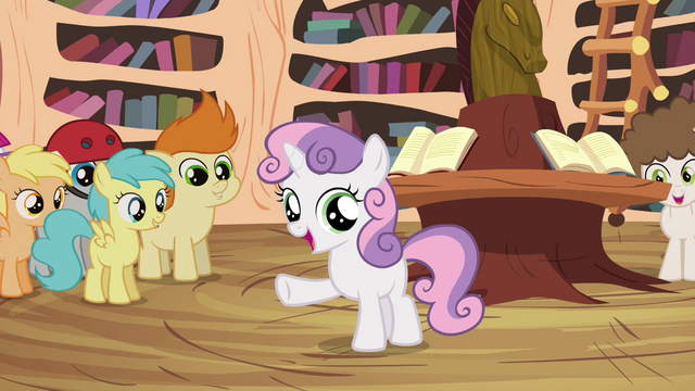 """File:Sweetie Belle """"we don't have Scootaloo's unicycle parts"""" S4E15.png"""