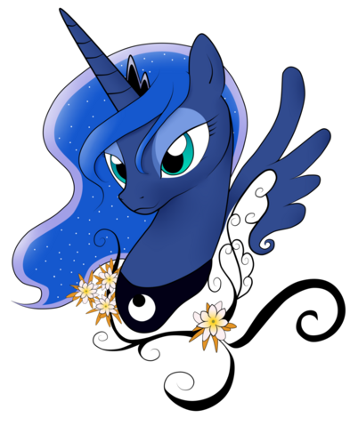 File:FANMADE Princess Luna flowers.png