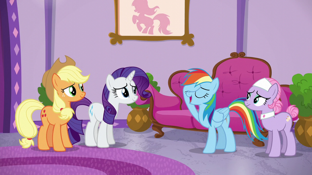 File:Rainbow Dash playing it off S6E10.png
