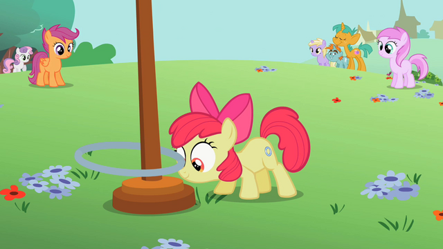 File:Apple Bloom about to flick the hoop up S2E06.png