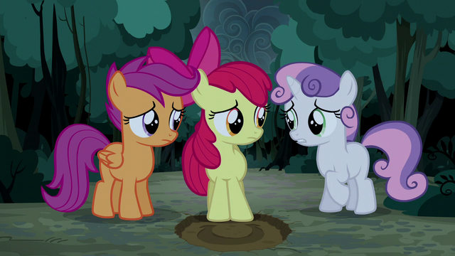 "File:Sweetie Belle ""any idea where we are?"" S5E6.png"