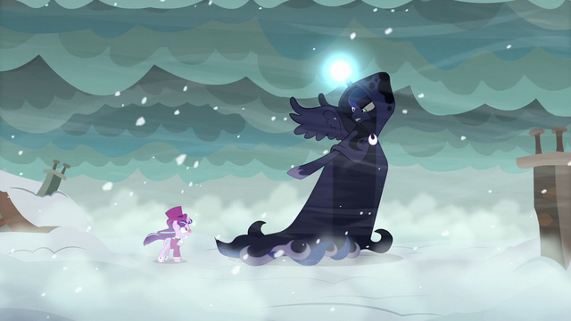 """File:Yet to Come sings """"because of you, Snowfall Frost"""" S06E08.png"""