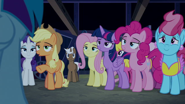 File:Applejack explaining to Rainbow Dash S6E15.png