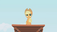 Applejack on the top of the platform S1E04
