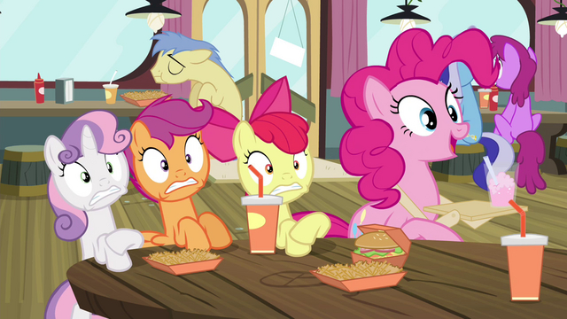 File:Pinkie Pie 'They're back!' S4E15.png