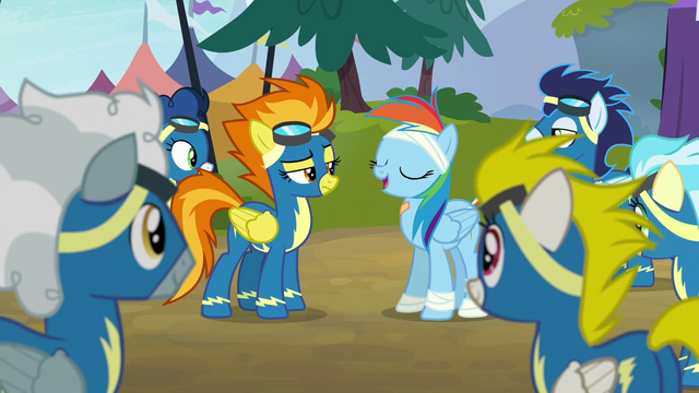"File:Rainbow Dash ""time to be okay with fitting in"" S6E7.png"