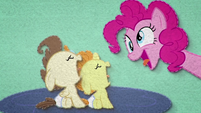 Pinkie tries to cheer up Pound and Pumpkin BFHHS2