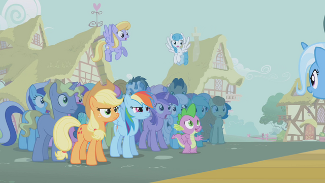 File:The ponies stare at a triumphant Trixie S1E06.png