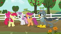 """Scootaloo """"meet us at the Crusaders' clubhouse!"""" S6E19"""