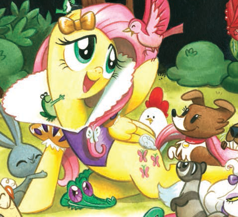 File:Micro-Series issue 4 Fluttershy as Snow White.png