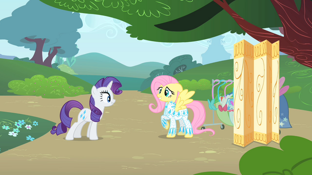 File:Rarity inspects Fluttershy's outfit 3 S1E20.png