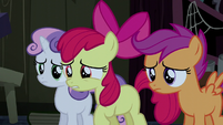 "Apple Bloom asking ""are you Trouble Shoes?"" S5E6"