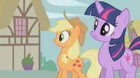 Applejack worried about Sweet Apple Acres S1E10