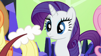 Discord rattles his tail at Rarity S5E22