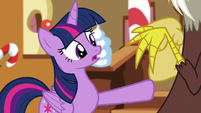 Twilight says she's glad; pushes Discord away S5E22