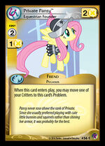 Private Pansy, Equestrian Founder card MLP CCG
