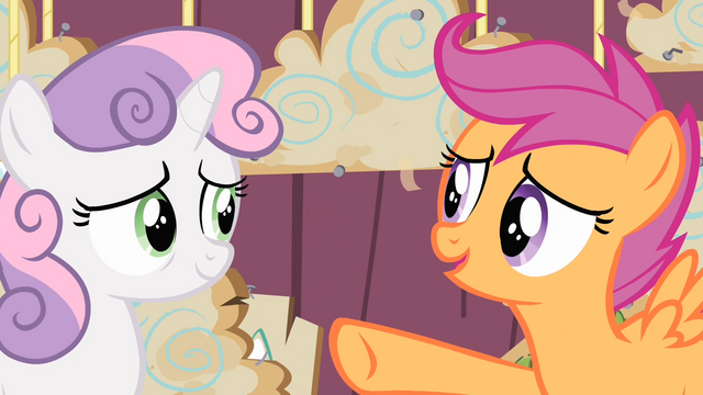 File:Scootaloo pointing at Sweetie Belle S4E05.png
