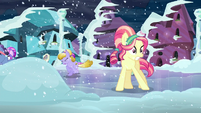 Crystal pony on slippery road S6E2