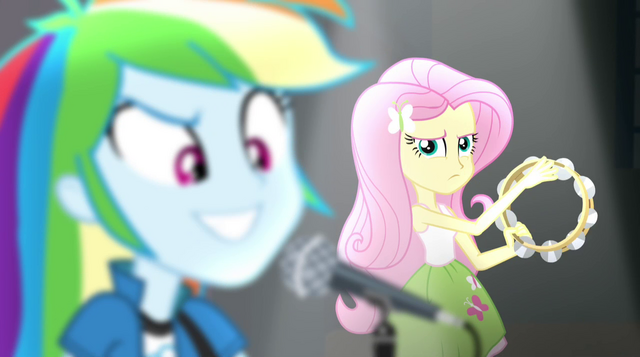 File:Fluttershy sneering at Rainbow Dash EG2.png