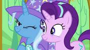 Trixie winking at Starlight Glimmer S6E6