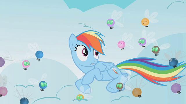 File:Rainbow Dash surrounded by parasprites S1E10.png