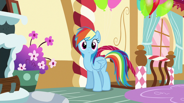 File:Rainbow enters Pinkie Pie's loft bedroom S6E15.png