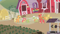 Apple Bloom packing items for Applejack S1E07