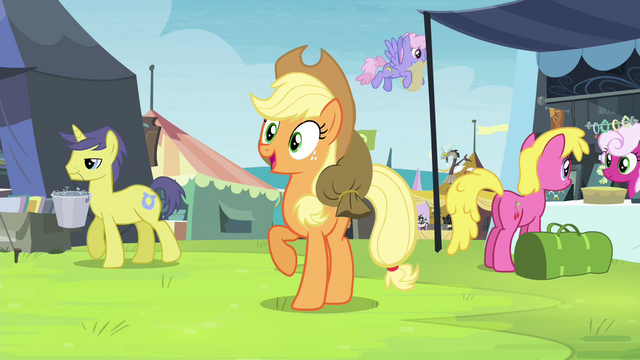 File:Applejack finds Rarity in the crowd S4E22.png
