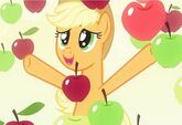 Applejack with apples around her promotional S4E07