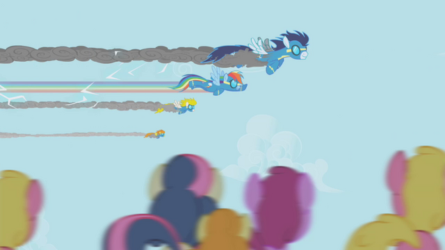 File:Rainbow Dash flying with Wonderbolts S1E03.png