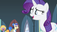 Rarity laughing nervously S4E19