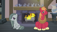 Big Mac and Marble near the fireplace S5E20