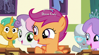 Scootaloo excited for the Applewood Derby S6E14