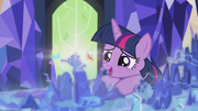 Twilight sees Griffonstone on the Cutie Map S5E8