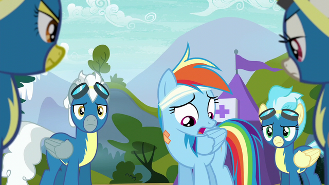 "File:Rainbow Dash ""always been a standout flyer"" S6E7.png"