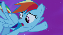 "Rainbow Dash ""too busy saving ponies to catch it"" S5E13"