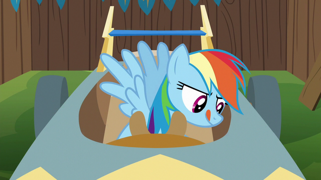 File:Rainbow Dash working on speed cart S6E14.png