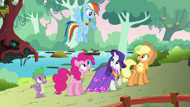 File:Rainbow complaining about dinner with Discord S03E10.png
