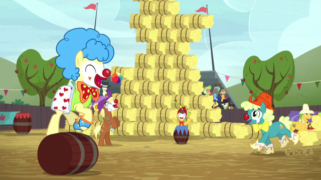 File:Rodeo clowns appear on the field S5E6.png